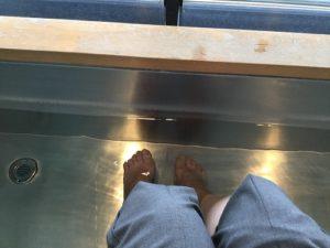 海ほたるパーキングの足湯