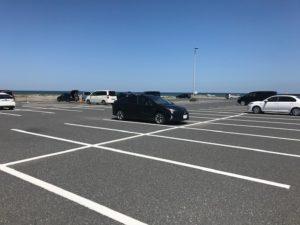大原海水浴場の無料駐車場