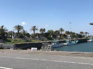 漁港から見た太東海水浴場